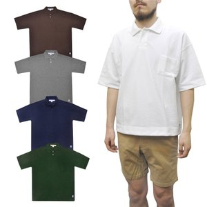 【3 COLOR】 GLACON(グラソン) 【MADE IN FRANCE】 S/S PIQUE BIG POLO SHIRTS(フランス製 半袖 鹿の子 ビッグポロシャツ)|septis