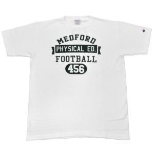 CHAMPION(チャンピオン)【MADE IN USA】T1011(ティーテンイレブン) S/S PRINT TEE SHIRTS(アメリカ製半袖プリントTシャツ) FOOTBALL WHITE|septis