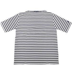 SAINT JAMES(セントジェームス) S/S BOATNECK BASQUE SHIRTS(半袖ボートネックバスクシャツ・半袖ウエッソン) NEIGE/MARINE(WHITE/NAVY) 正規代理店取扱品 septis