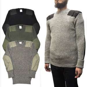 【4 COLOR】WOOLLY PULLY(ウーリープーリー)【MADE IN ENGLAND】 CREWNECK COMBAT SWEATER / COMMAND SWEATER(イギリス製 コマンドセーター)|septis