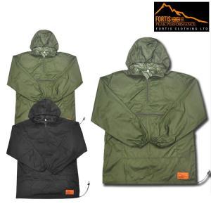 【2 COLOR】FORTIS CLOTHING(フォーティスクロージング) PULLOVER ANORAK(アノラックパーカ) RIPSTOP NYLON(リップストップ ナイロン)|septis