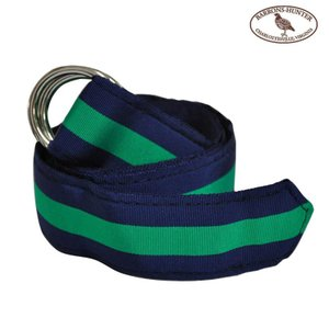 BARRONS HUNTER(バロンズハンター)【D-RING】DOUBLE RING RIBBON BELT(ダブルリングリボンベルト) NAVY/GREEN|septis
