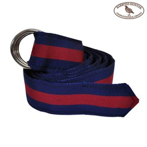BARRONS HUNTER(バロンズハンター)【D-RING】DOUBLE RING RIBBON BELT(ダブルリングリボンベルト) NAVY/WINE|septis