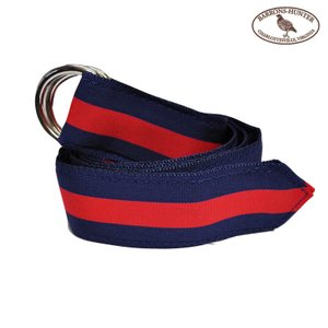 BARRONS HUNTER(バロンズハンター)【D-RING】DOUBLE RING RIBBON BELT(ダブルリングリボンベルト) NAVY/RED|septis