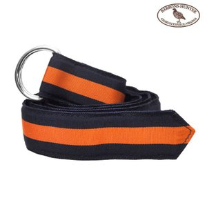 BARRONS HUNTER(バロンズハンター)【D-RING】DOUBLE RING RIBBON BELT(ダブルリングリボンベルト) NAVY/ORANGE|septis