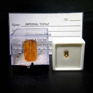 貴重なオーロの非加熱です。ブラジル産インペリアルトパーズ、ルース&原石セット|seraphco