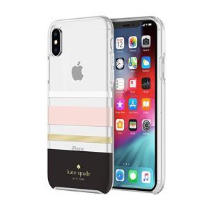 kate spade new york(ケイトスペード)iPhone Xs Max スマホ ケース クリア ストライプ|serekuto-takagise