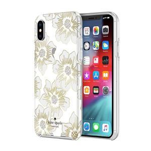 kate spade new york(ケイトスペード)iPhone XS Max スマホ ハードシェル ケース クリアフローラルプリント|serekuto-takagise