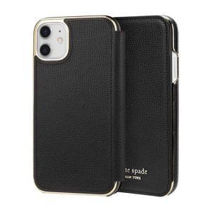 kate spade new york(ケイトスペード)iPhone 11 手帳型ケース(ブラック)|serekuto-takagise