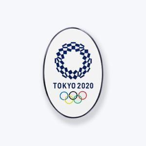 東京2020オリンピック 公式商品 オフィシャルライセンス ピンバッジ 楕円カラーEMニッケル serekuto-takagise