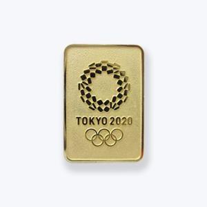 東京2020オリンピック 公式商品 オフィシャルライセンス ピンバッジ 四角エンボスEMゴールド serekuto-takagise