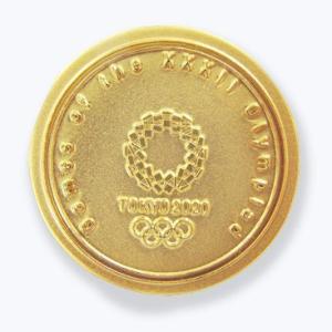 東京2020オリンピック 公式商品 オフィシャルライセンス ピンバッジ メダル型ゴールド serekuto-takagise