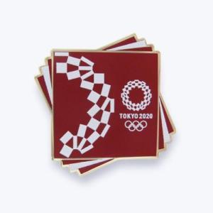 東京2020オリンピック 公式商品 オフィシャルライセンス ピンバッジ クロッピングピンバッジ 赤 serekuto-takagise
