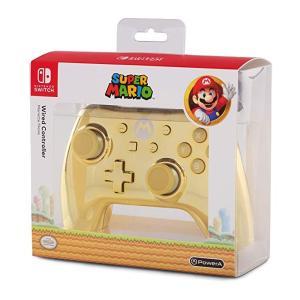 海外限定 ニンテンドースイッチ コントローラー Nintendo Switch controller  特別ゴールドクローム版 マリオデザイン|serekuto-takagise