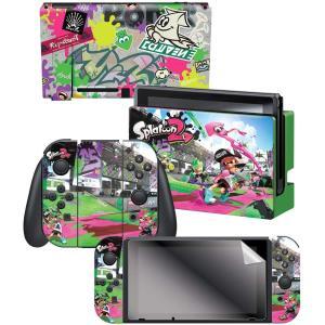 任天堂ライセンス商品 コントローラーギア Nintendo Switch スイッチ スキンシール&スクリーンプロテクターセット スプラトゥーン2|serekuto-takagise