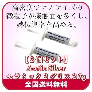 セラミック2グリス 2.7g Arctic Silver  (2個セット)|server