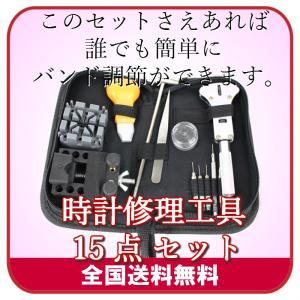 時計修理工具 15点 セット 腕時計 工具|server