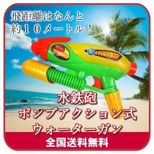 水鉄砲 ポンプアクション式ウォーターガン 超強力飛距離10m...