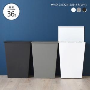 ゴミ箱 45リットルゴミ袋対応 分別 スリム キッチン ふた付き おしゃれ 北欧 シンプル 白 横型 kcud SIMPLE Wide(クード シンプル ワイド)の写真
