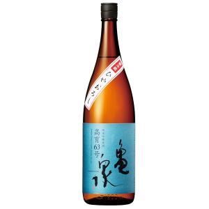 亀泉 純米吟醸原酒 ひやおろし高育63号 1.8L クール便|sesohl