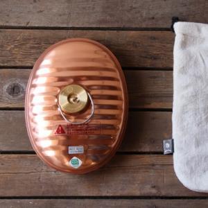 【湯たんぽ】 マルカ製純銅製湯たんぽ2.2L(袋付き)