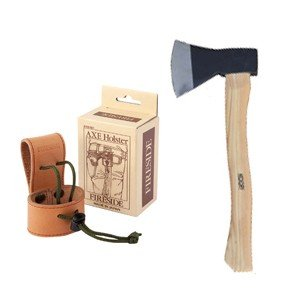 手斧 キャンプ斧 サンダーアックス800G ファイヤーサイドアックスホルスターセット 手斧 キャンプ斧|sessuimura