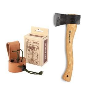 手斧 キャンプ斧 ハスクバーナ手斧64-01 ファイヤーサイドアックスホルスターセット 手斧 キャンプ斧|sessuimura