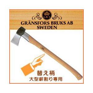 薪割り 斧 グレンスフォシュ 斧 大型薪割り&薪割り鎚ショート共通 専用替え柄[品番:442-406]|sessuimura