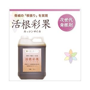 液体肥料 次世代発根剤 「活根彩果」 2kgボトル 脅威の根張りを実現!|sessuimura