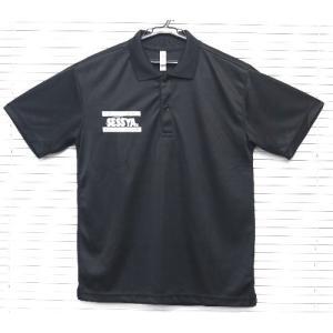 SESSYA 吸汗速乾ドライポロシャツ 半袖 ブラック Sサイズ|sessya