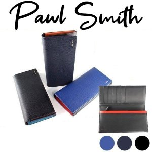 ポールスミス 財布 メンズ 長財布 かぶせ カラーフラッシュ...