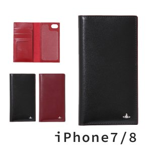 ヴィヴィアンウエストウッド レディース iPhoneケース 手帳型 iPhone7/8 牛革 SIM...