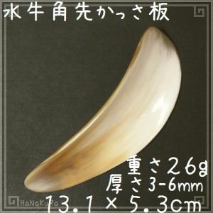 かっさ プレート 水牛の角 自然形 角先 C67|seto-hanakura