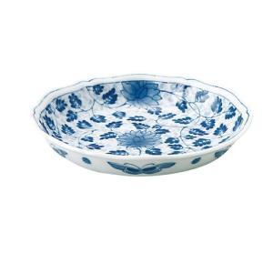中皿 和食器 / 藍唐草 RI輪花五〇深皿 寸法:直径17 X 3.5cm 日本製 国産|setomono-honpo