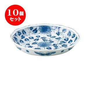10個セット 中皿 和食器 / 藍唐草 RI輪花五〇深皿 寸法:直径17 X 3.5cm 日本製 国産|setomono-honpo