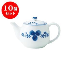 10個セット 急須 和食器 / 藍つづり ポット急須II 寸法:18 X 11 X 10.5cm 465cc 日本製 国産 setomono-honpo