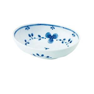 中鉢 和食器 / 藍つづり PR四〇鉢 寸法:13 X 9.5 X 4cm 日本製 国産 setomono-honpo