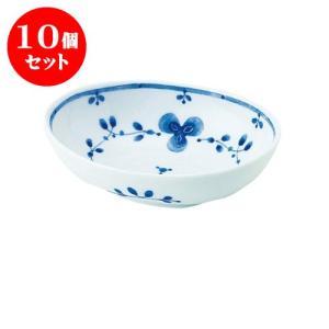 10個セット 中鉢 和食器 / 藍つづり PR四〇鉢 寸法:13 X 9.5 X 4cm 日本製 国産|setomono-honpo