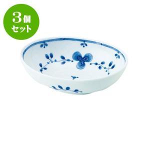 3個セット 中鉢 和食器 / 藍つづり PR四〇鉢 寸法:13 X 9.5 X 4cm 日本製 国産 setomono-honpo