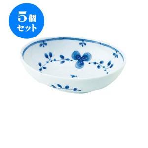 5個セット 中鉢 和食器 / 藍つづり PR四〇鉢 寸法:13 X 9.5 X 4cm 日本製 国産 setomono-honpo