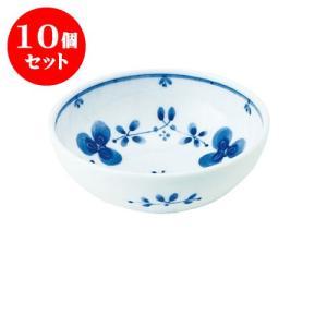 10個セット 小鉢 和食器 / 藍つづり UK四〇小鉢 寸法:直径12 X 4.5cm 日本製 国産 setomono-honpo