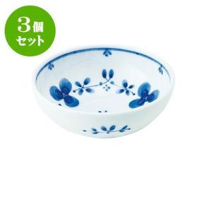 3個セット 小鉢 和食器 / 藍つづり UK四〇小鉢 寸法:直径12 X 4.5cm 日本製 国産 setomono-honpo
