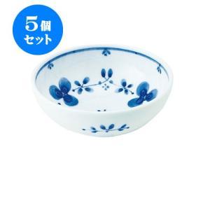 5個セット 小鉢 和食器 / 藍つづり UK四〇小鉢 寸法:直径12 X 4.5cm 日本製 国産 setomono-honpo