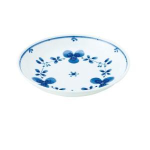 中皿 和食器 / 藍つづり UK五〇皿 寸法:直径16.5 X 3.5cm 日本製 国産|setomono-honpo