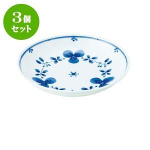 3個セット 中皿 和食器 / 藍つづり UK五〇皿 寸法:直径16.5 X 3.5cm 日本製 国産|setomono-honpo