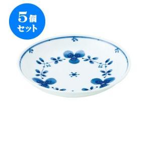 5個セット 中皿 和食器 / 藍つづり UK五〇皿 寸法:直径16.5 X 3.5cm 日本製 国産|setomono-honpo
