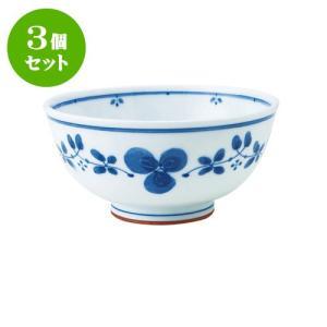3個セット 丼 和食器 / 藍つづり UK丼 寸法:直径16.5 X 8cm 日本製 国産 setomono-honpo