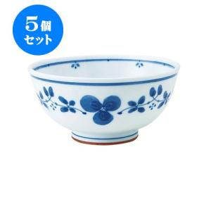 5個セット 丼 和食器 / 藍つづり UK丼 寸法:直径16.5 X 8cm 日本製 国産 setomono-honpo