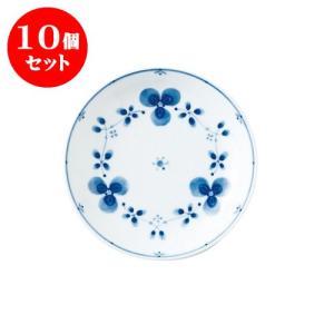 10個セット 中皿 和食器 / 藍つづり UK六〇皿 寸法:直径20 X 3.5cm 日本製 国産|setomono-honpo