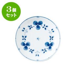 3個セット 中皿 和食器 / 藍つづり UK六〇皿 寸法:直径20 X 3.5cm 日本製 国産|setomono-honpo